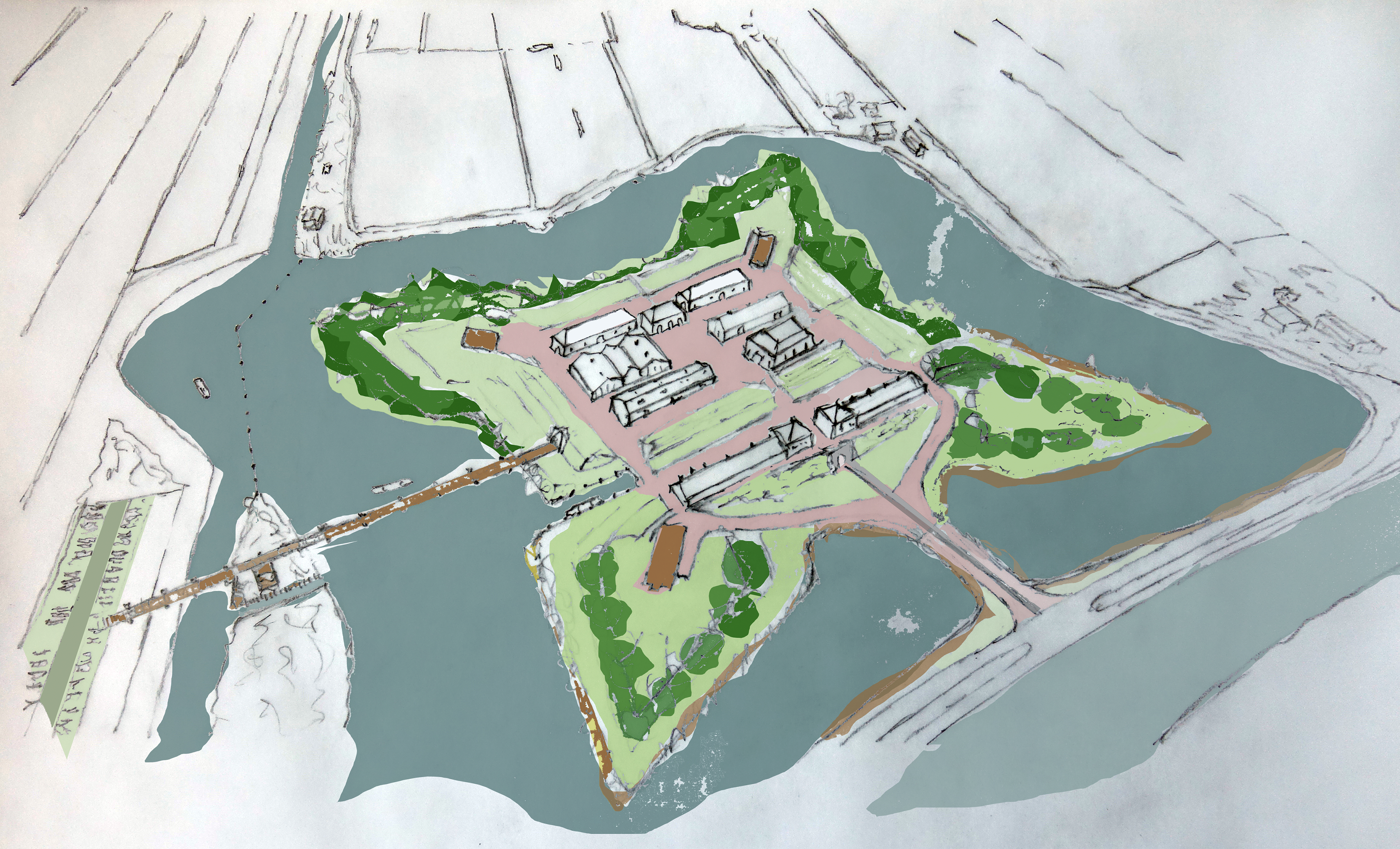 Plattegrond van het fort